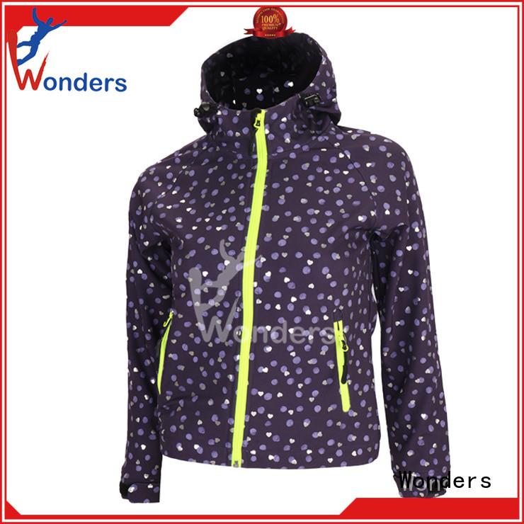 Wonders waterproof softshell jacket from China bulk production