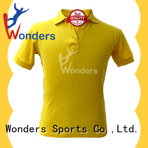 Wonders cotton polo t shirts personalized for sports