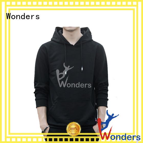 Wonders new mens black pullover hoodie wholesale for sale