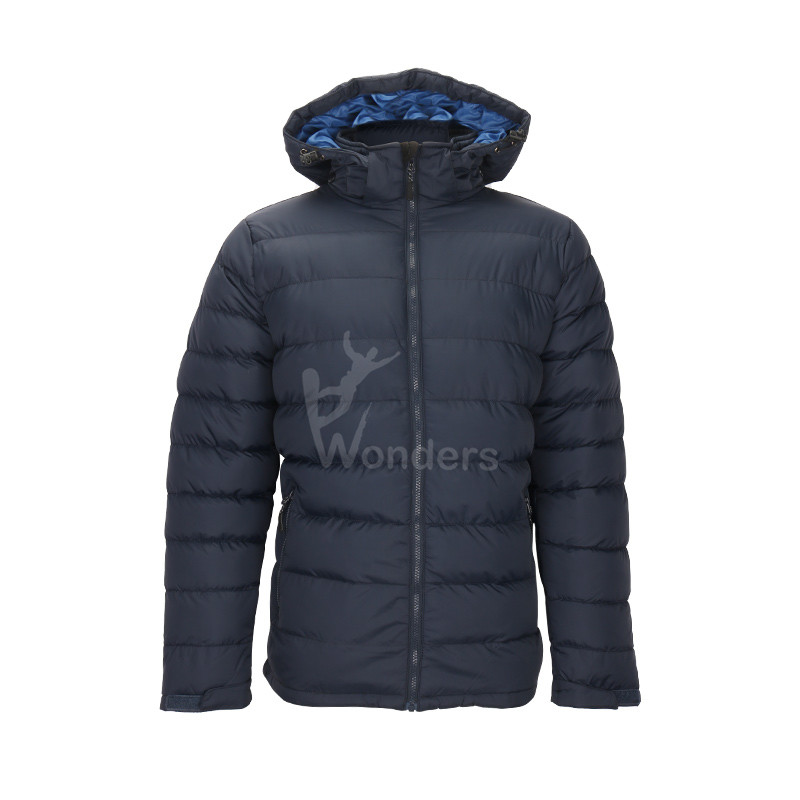 Men's insulated padded zip-off winter jacket