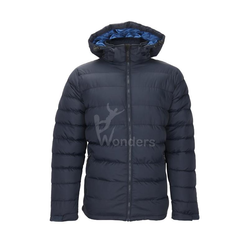 Men's insulated padded zip-off winter jacket