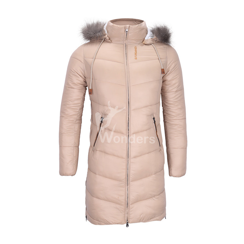Women's insulated padded puffer down Parka jacket with detachable fake fur hood