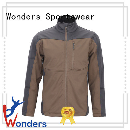 Wonders hooded soft shell jacket wholesale bulk production