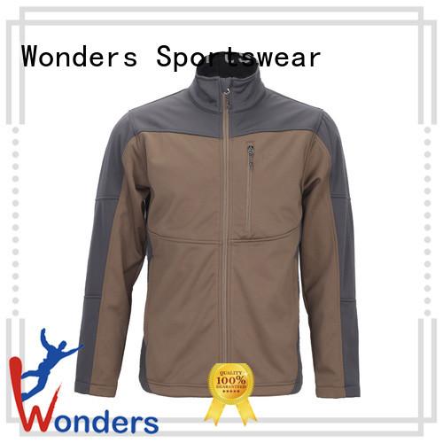 Wonders hooded soft shell jacket wholesale bulk production